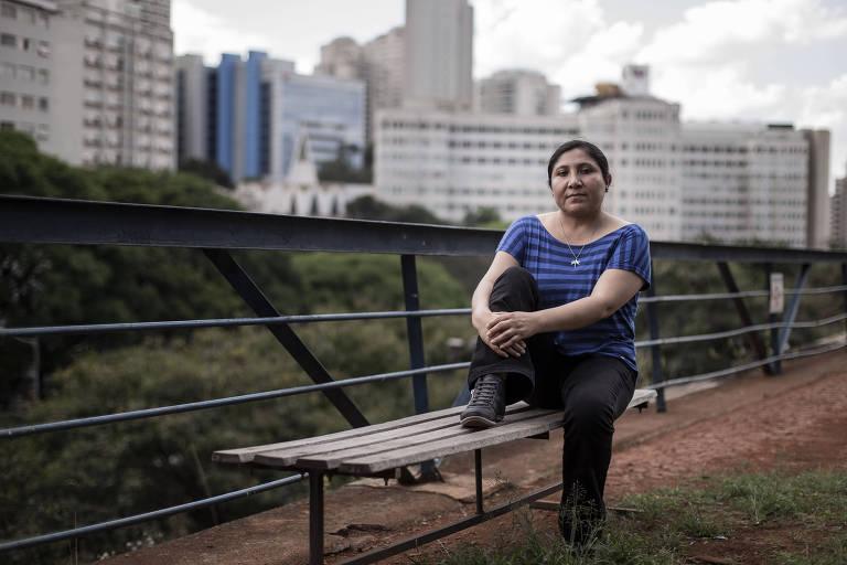 Lineth Bustamante, que ajudou a formar o 'comitê contra o golpe' e organiza protestos na avenida Paulista