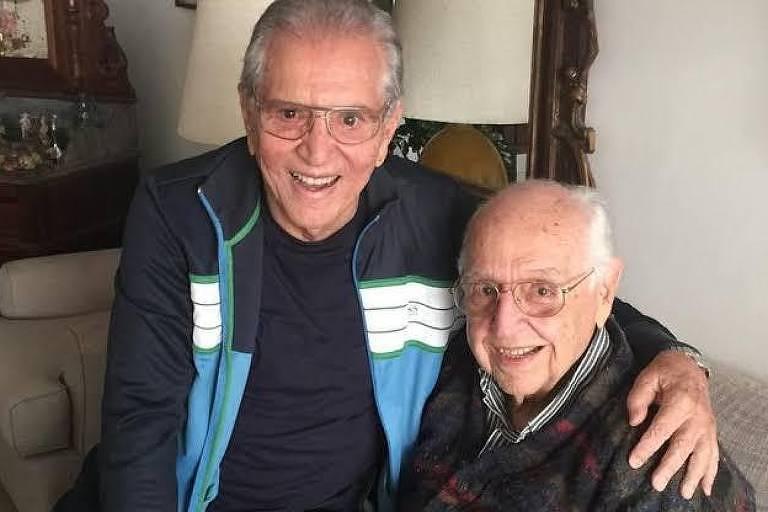 Fernando José de Nóbrega (1930-2019) e o sobrinho Carlos Alberto de Nóbrega