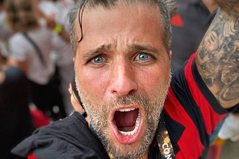 Bruno Gagliasso viaja para engrossar coro pelo Flamengo