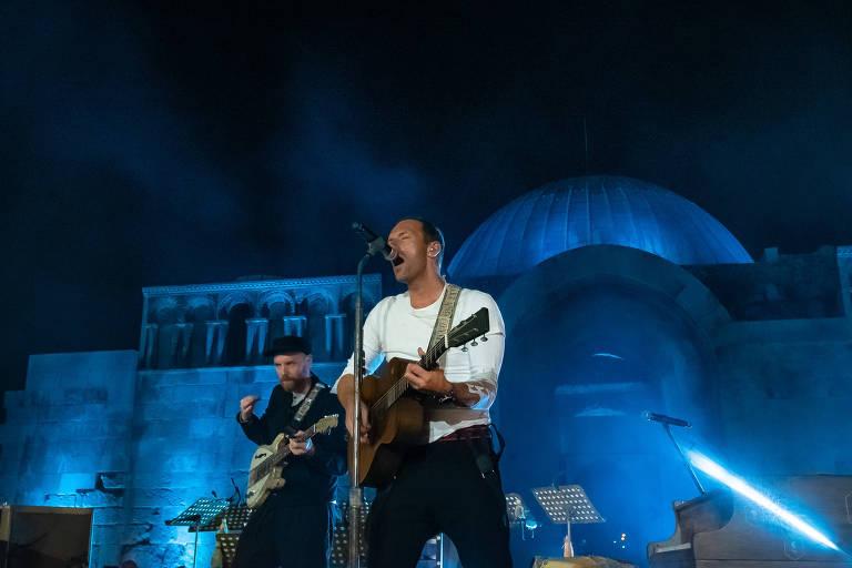 Coldplay faz show na Jordânia para o lançamento do disco 'Everyday Life'