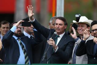 Jair Bolsonaro no evento de lançamento da Aliança pelo Brasil, em Brasília (DF)
