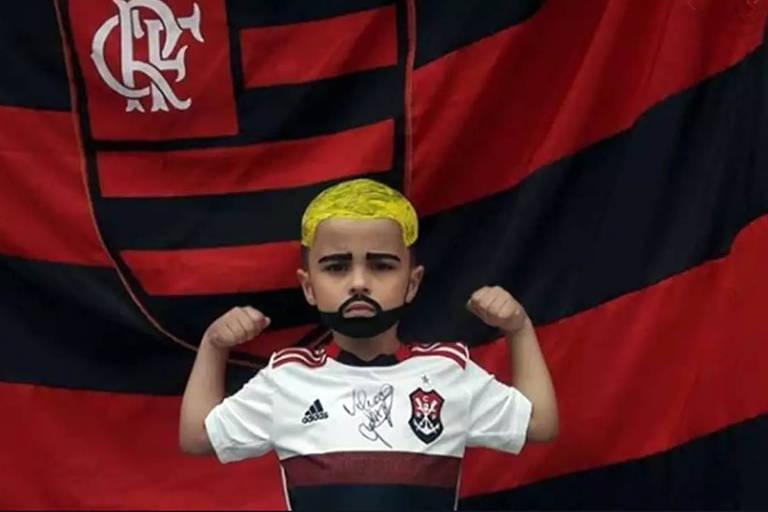 """Emerson Rodrigues, de 5 anos. Apelidado de """"Gabigolzinho"""""""