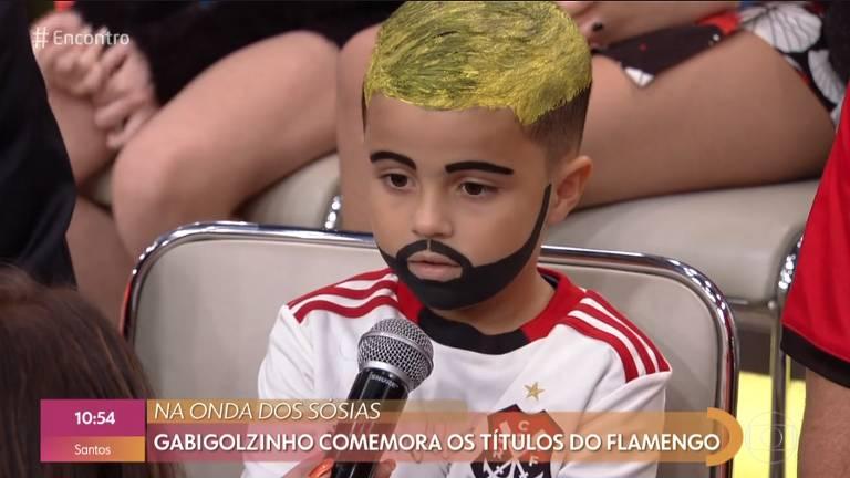Sucesso nas redes sociais, Gabigolzinho participou do programa Encontro com Fátima Bernades