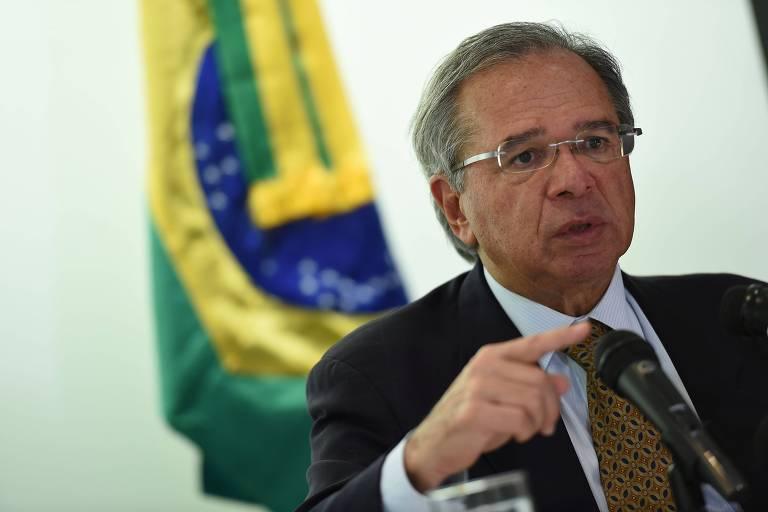O ministro da Economia, Paulo Guedes, em Washington