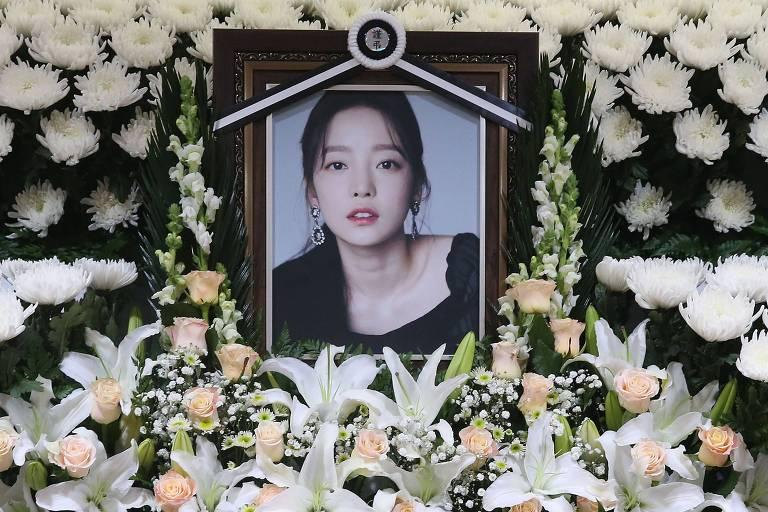 Porta-retrato da estrela de K-pop Goo Hara