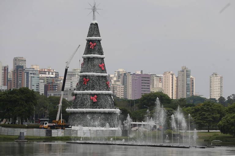 Árvore de Natal do Ibirapuera, em São Paulo