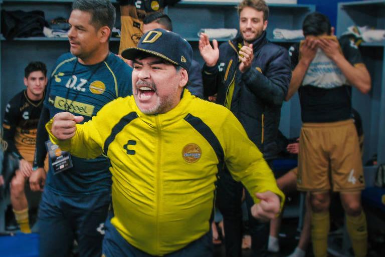 """Netflix lançou a série """"Maradona no México"""", sobre passagem do técnico argentino pelo Dorados"""