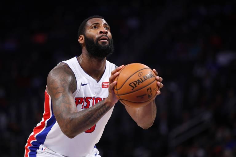 Pivô do Detroit Pistons, Andre Drummond está há sete temporadas na NBA