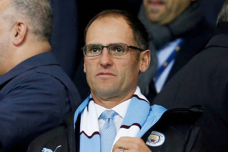 Egon Durban, diretor da Silver Lake Managing, em jogo do Manchester City