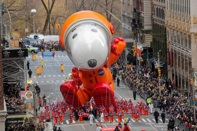 Dia de Ação de Graças tem desfiles de balões em NY; veja fotos de hoje