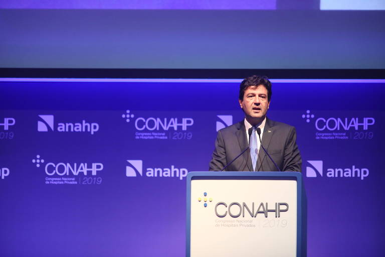 Ministro da Saúde,  Luiz Henrique Mandetta, durante palestra no Conahp (Congresso Nacional de Hospitais Privados)