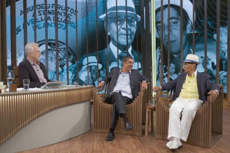 Zeca Pagodinho e Monarco no conversa com Bial