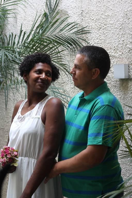 Eunice e Edson dias antes do casamento, em São Paulo