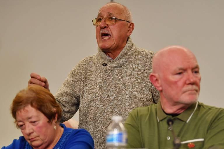 Familiares das vítimas concederam entrevista coletiva e expressaram a indignação com o veredicto