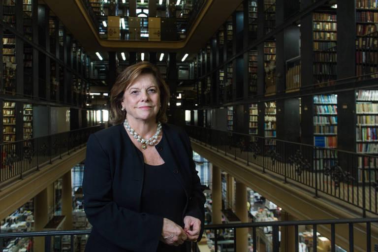 Helena Severo, que colocou o cargo de presidente da Biblioteca Nacional à disposição