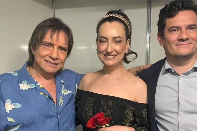 Roberto Carlos com Sérgio e Rosangela Moro