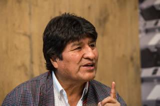 Evo Morales fotografado no hotel Ibis, na região central da cidade do México