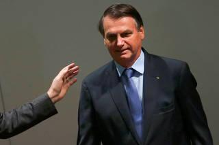 Brazil?s President Jair Bolsonaro attends the 3rd National Control Forum seminar in Brasilia