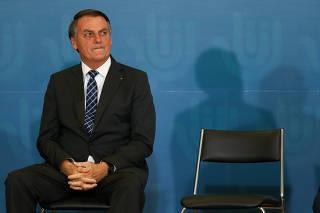 Jair Bolsonaro durante comemoração ao Dia Internacional do Voluntariado