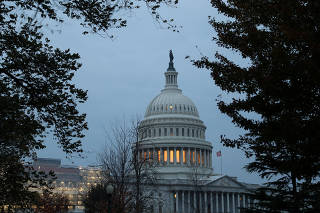 The U.S. Capitol building is pictured in morning light ahead of testimony by U.S. Ambassador to the European Union Gordon Sondland as part of the impeachment inquiry into U.S. President Donald Trump on Capitol Hill in Washington