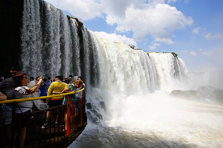 Parque Nacional das Cataratas do Iguaçu, em Foz do Iguaçu (PR)