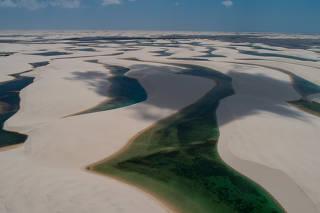 Vista geral dos Lençóis Maranhenses, em Barreirinhas (MA)
