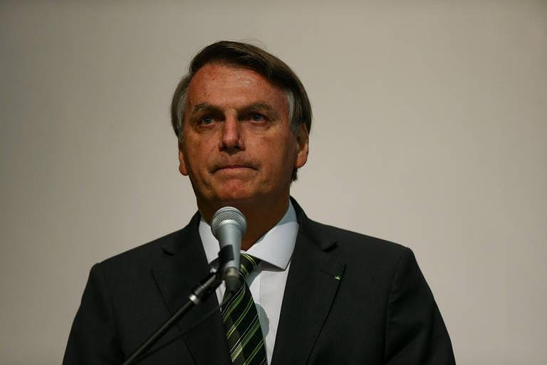 O presidente Jair Bolsonaro durante seminário sobre combate a corrupção, promovido pela CGU (Controladoria-Geral da União), em Brasília (DF)