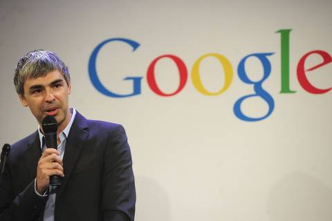 ORG XMIT: ED175 (FILES)Google CEO Larry Page holds a press annoucement at Google headquarters in New York on May 21, 2012. Google said May 22, 2012 it finalized its $12.5 billion deal to buy Motorola Mobility, a key manufacturer of smartphones and other devices. Page said in a Google blog post that the deal had been completed and that he sees the unit producing