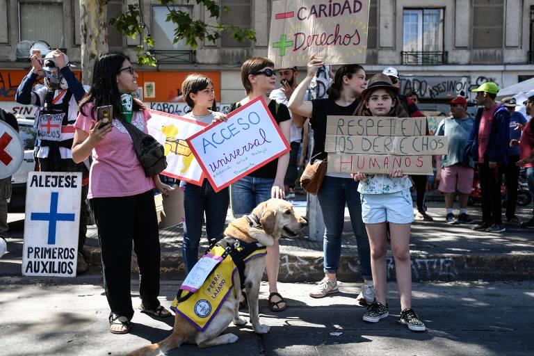 Chilenos protestam pelo Dia Internacional das Pessoas com Deficiência; veja fotos do dia