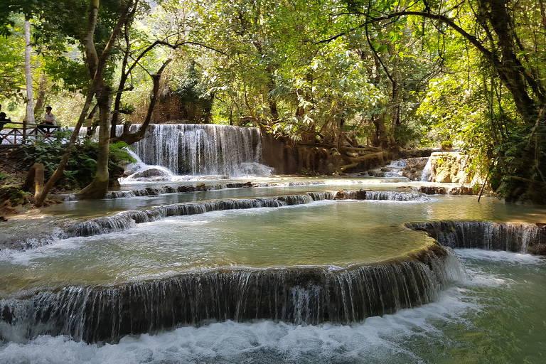 As piscinas da cachoeira de Kuang Si - Louang Pha Bang