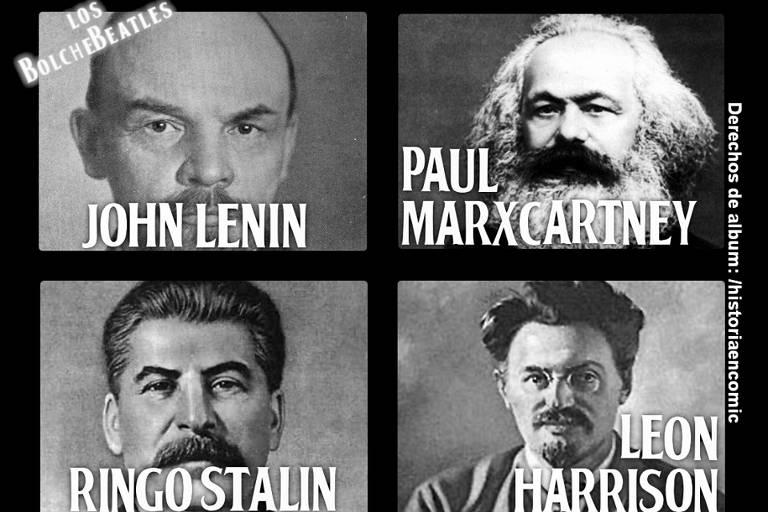 Meme criado sobre declaração do presidente da Funarte do governo Bolsonaro, Dante Mantovani, de que os Beatles eram comunistas