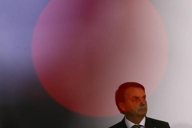 O presidente Jair Bolsonaro, no Palácio do Planalto