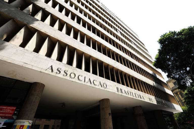 Fachada da sede da ABI (Associação Brasileira de Imprensa), no centro do Rio de Janeiro
