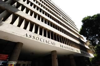 Fachada da sede da ABI, no centro do Rio de Janeiro