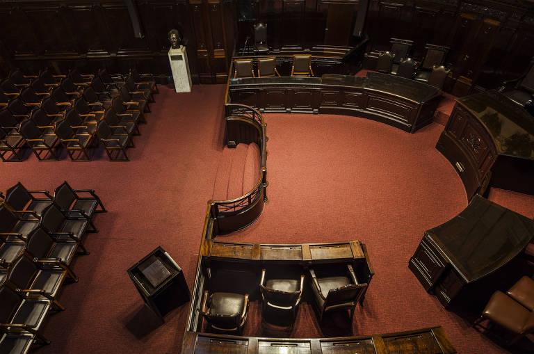 Sala do TJ-SP (Tribunal de Justiça de São Paulo) vista de cima