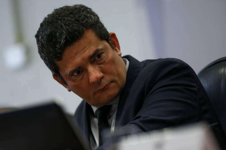 O ministro da Justiça, Sergio Moro, participa de audiência pública no Senado nesta quarta