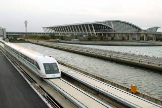 THE SHANGHAI MAGLEV TRANSPORTATION DEVELOPMENT COMPANY TESTS WORLD'S FIRST TRAIN TO USE MAGNETS IN SHANGHAI