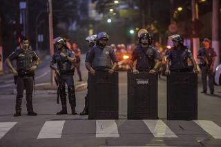 Protesto em Paraisópolis