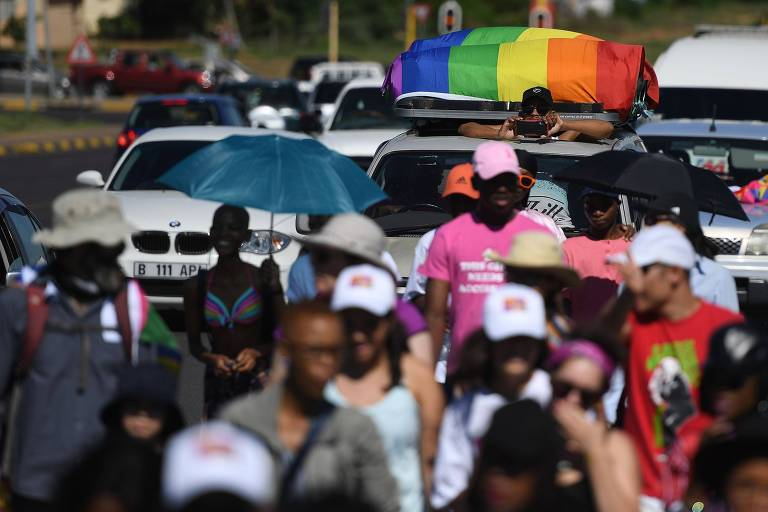 Primeira parada gay de Botsuana, país africano que descriminalizou a homossexualidade em junho deste ano