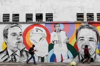 Grafite em homenagem a Gugu Liberato em SP