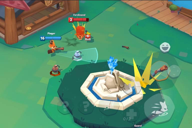 Reprodução do jogo Zooba, da Wildlife Studios, que passou a valer US$ 1,3 bilhão