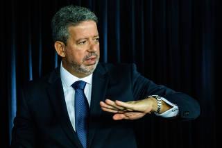 O deputado federal Arthur Lira (PP-AL), durante entrevista à Folha e ao UOL em Brasília