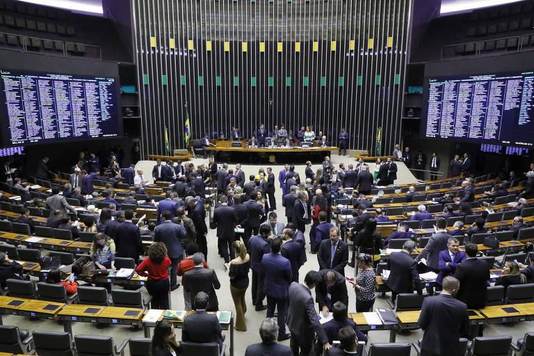 O plenário da Câmara dos Deputados, em Brasília