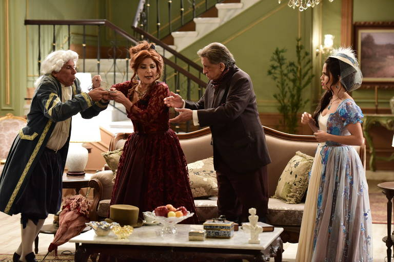 No elenco estão Angelina Muniz, Bemvindo Sequeira, Giuseppe Oristânio, Inês Galvão e Pérola Faria