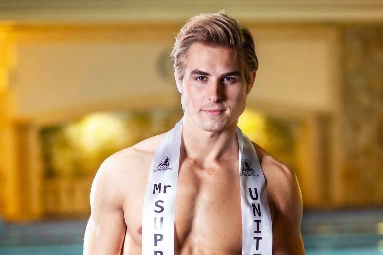 Concorrente dos EUA, Nate Crnkovich, 24, leva o título de Mister Supranational 2019