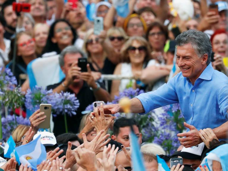 Ato de despedida de Macri na Presidência, em dezembro de 2019