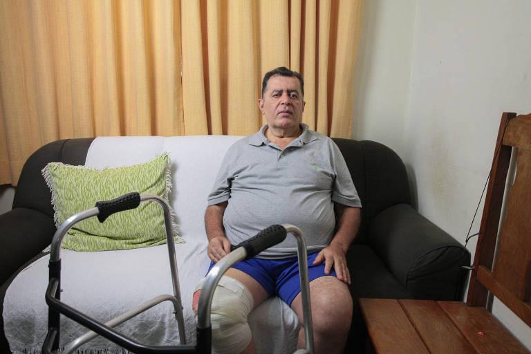 Joali Teixeira dos Santos tem mal de Parkinson e passou por duas cirurgias no joelho recentemente; o segurado afirma que está impossibilitado de trabalhar e aguarda resposta do INSS há oito meses