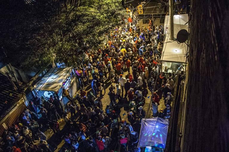 Baile funk no bairro do Capão Redondo, zona sul de São Paulo em setembro de 2015