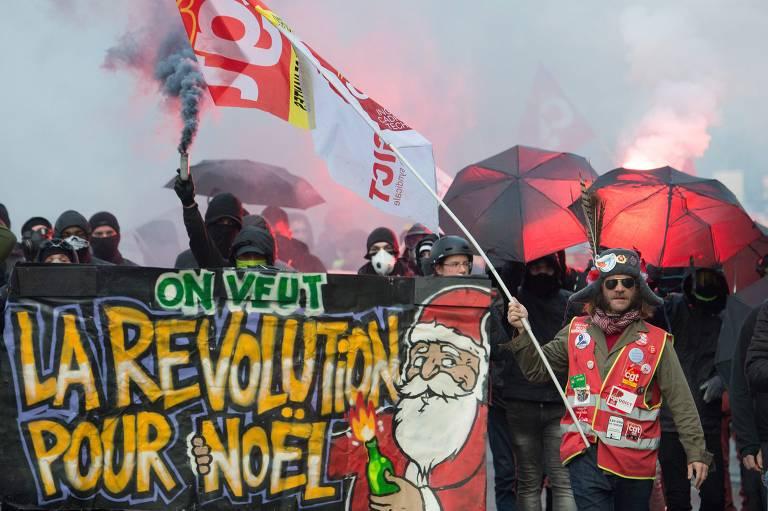 Terceiro dia de greve na França