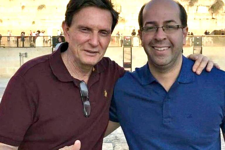 O prefeito do Rio, Marcelo Crivella, com o empresário Rafael Alves, apontado em delação como responsável por criar um 'QG da propina'
